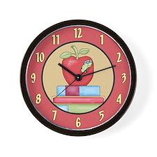 School Teachers Apple Wall Clock