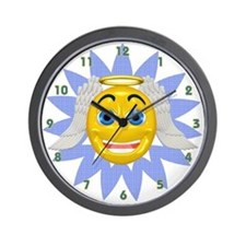 Smiley Face Angel Wall Clock