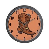 Cowboy Boot Wall Clock