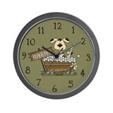 Bathtime Puppy Wall Clock