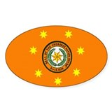 Cherokee Nation Flag Oval Bumper Stickers