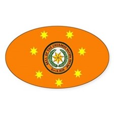 Cherokee Nation Flag Oval Decal