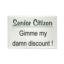 Senior Citizen Discount Rectangle Magnet
