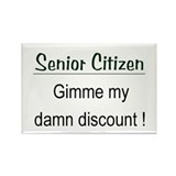Senior Citizen Discount Rectangle Magnet (10 pack)