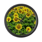 Sunflower Cluster Large Wall Clock