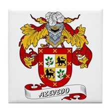 Azevedo Coat of Arms Tile Coaster