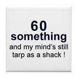60 Something Tile Coaster