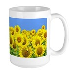 Sunflower Cluster Large Mug