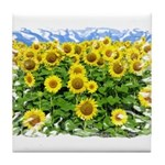 Sunflower Cluster Tile Coaster
