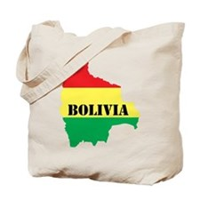 Map Of Bolivia Tote Bag