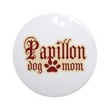 Papillon Mom Ornament (Round)