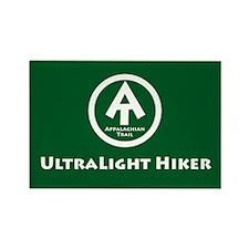 "At ""Ultralight Hiker"" Rectangle Magnet M"