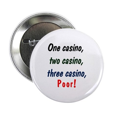 "1,2,3 Casino 2.25"" Button (10 pack)"