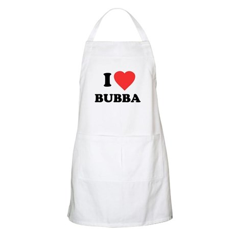 I Love Bubba BBQ Apron
