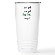 I Hate/Love Golf Travel Mug