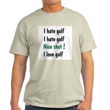 I Hate/Love Golf T-Shirt