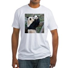 Mom & Baby Giant Pandas Fitted T-Shirt