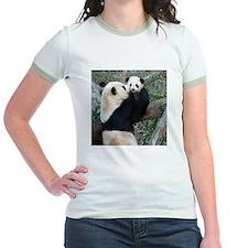 Mom & Baby Giant Pandas Jr. Ringer T-Shirt