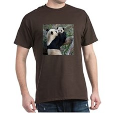 Mom & Baby Giant Pandas T-Shirt