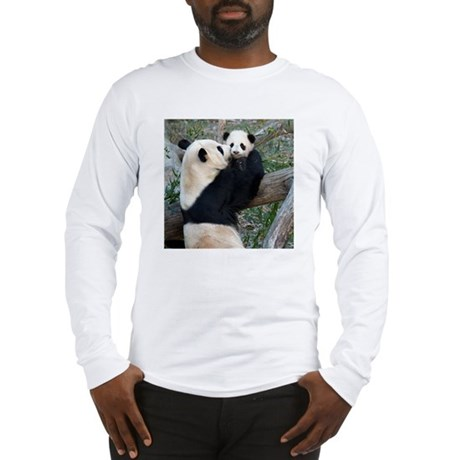 Mom &amp;amp; Baby Giant Pandas Long Sleeve T-Shirt