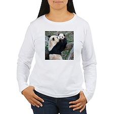 Mom & Baby Giant Pandas Women's Long Sleeve Sh