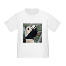 Mom & Baby Giant Pandas Toddler T-Shirt
