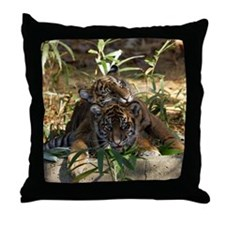 Sumatran Tigers Throw Pillow