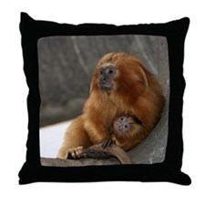 Golden Lion Tamarins Throw Pillow