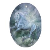 Unique Pegasus art Oval Ornament