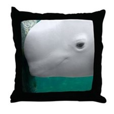 Beluga Watching Throw Pillow