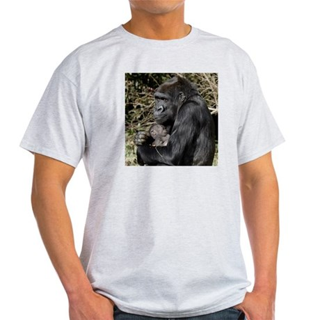Mom and Baby Gorilla Light T-Shirt