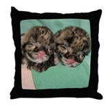 Clouded Leopard Cubs Throw Pillow