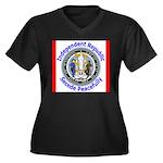 Wyoming-5 Women's Plus Size V-Neck Dark T-Shirt