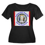 Wyoming-5 Women's Plus Size Scoop Neck Dark T-Shir