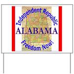 Alabama-3 Yard Sign