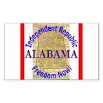 Alabama-3 Rectangle Sticker 50 pk)