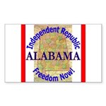 Alabama-3 Rectangle Sticker