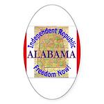 Alabama-3 Oval Sticker (50 pk)