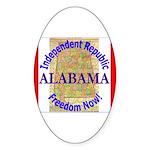 Alabama-3 Oval Sticker