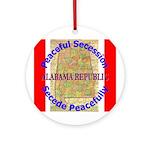 Alabama-1 Ornament (Round)