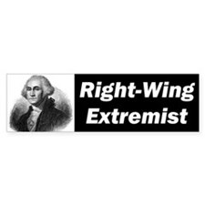 Right Wing Extremist Bumper Car Sticker