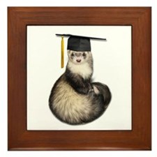 Ferret Graduation Framed Tile
