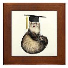 Ferret Graduation Framed Tile
