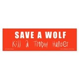 SAVE A WOLF Sticker (10)