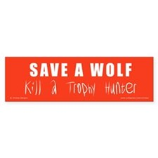 SAVE A WOLF Bumper Sticker