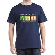 Proud Father of Three Little Miracles T-Shirt