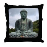 Kamakura Great Budda Throw Pillow