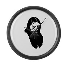 Raspy-all black Large Wall Clock