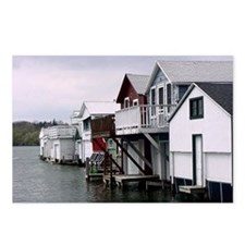 Unique Boat house row Postcards (Package of 8)