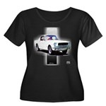 Mustang 1965 Women's Plus Size Scoop Neck Dark T-S